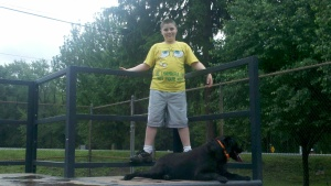 Nick and Onyx at the Skate Park